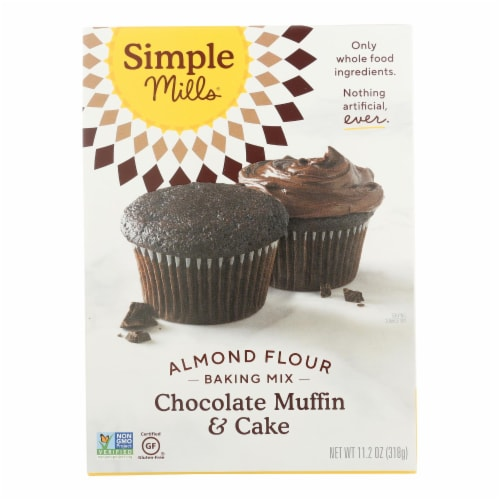 Simple Mills Gluten Free Chocolate Muffin and Cake Almond Flour Baking Mix Perspective: front