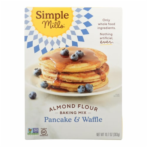 Simple Mills Almond Flour Pancake and Waffle Mix - Case of 6 - 10.7 oz. Perspective: front