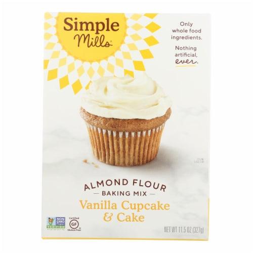 Simple Mills Vanilla Cupcake & Cake Almond Flour Baking Mix Perspective: front