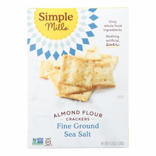 Simple Mills Fine Ground Sea Salt Almond Flour Crackers Perspective: front
