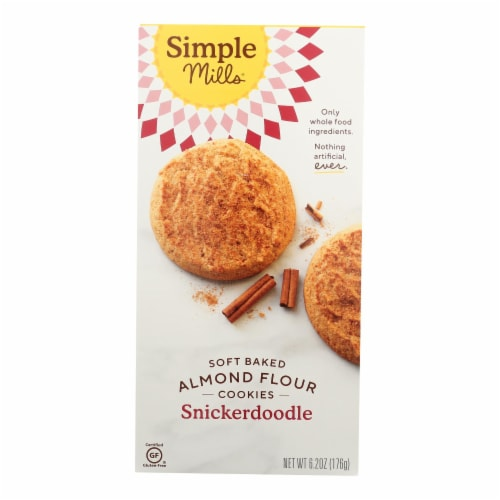 Simple Mills Soft Baked Snickerdoodle Cookies - Case of 6 - 6.2 OZ Perspective: front