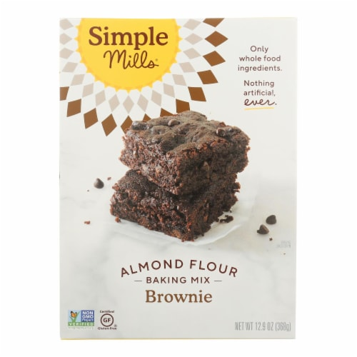 Simple Mills - Brownie Mix Almond Flour - Case of 6 - 12.9 OZ Perspective: front