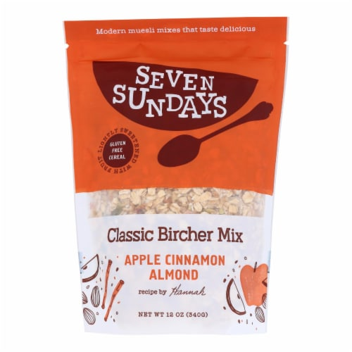Seven Sundays Unsweetened Bircher Muesli  - Case of 6 - 12 OZ Perspective: front