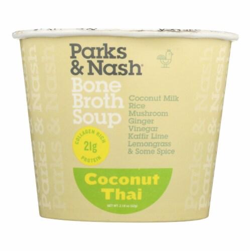 Bone Broth Soup - Soup Cup - Coconut Thai - Case of 6 - 2.18 oz. Perspective: front