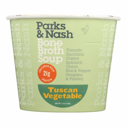 Bone Broth Soup - Soup Cup - Tuscan Vegetable - Case of 6 - 1.23 oz. Perspective: front
