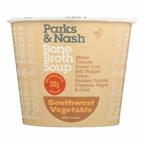 Bone Broth Soup - Soup Cup - Southwest Vegetable - Case of 6 - 1.55 oz. Perspective: front