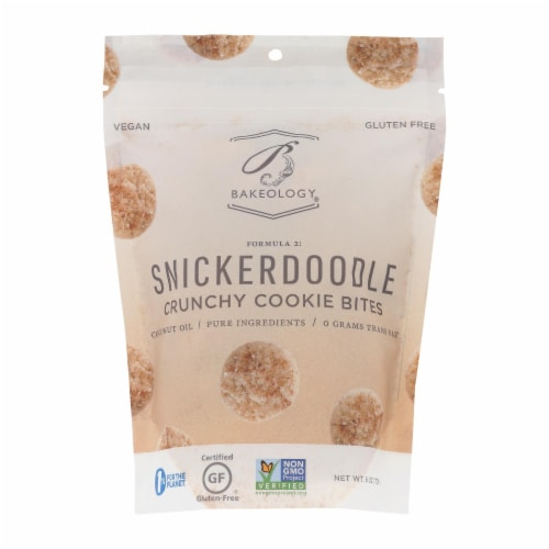 Bakeology Cookie Bites - Snickerdoodle - Case of 12 - 6 oz. Perspective: front