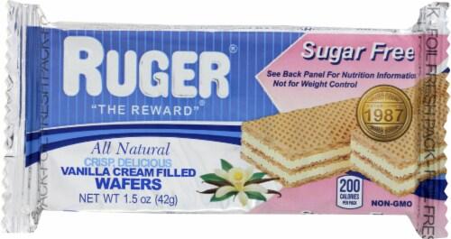 Ruger All Natural Crisp Vanilla Wafers Sugar Free 1.5oz PK12 Perspective: front