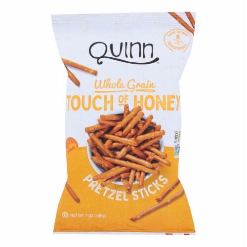 Quinn - Pretzel Sticks - Touch of Honey - Case of 8 - 7 oz. Perspective: front