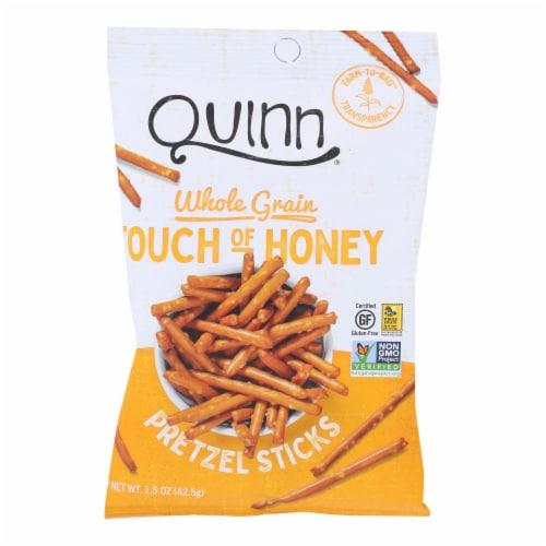 Quinn - Pretzel Sticks - Touch of Honey - Case of 36 - 1.5 oz. Perspective: front