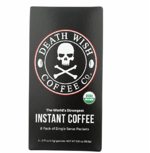 Death Wish Coffee Co Organic Instant Coffee, 8Pk Perspective: front