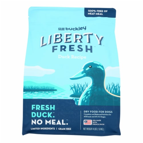 Buckley - Liberty Fresh Duck - Case of 6 - 4 LB Perspective: front