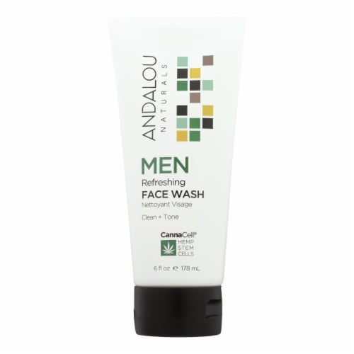 Andalou Naturals - Face Wash - Men's Refreshing - 6 fl oz. Perspective: front