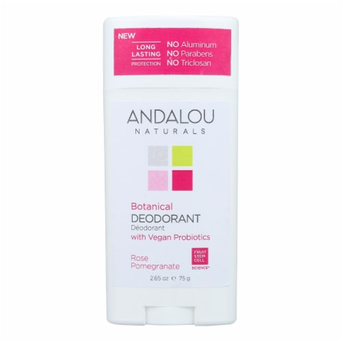 Andalou Naturals - Deodorant Vgn Pro Rose Pomegranate - 1 Each - 2.65 OZ Perspective: front