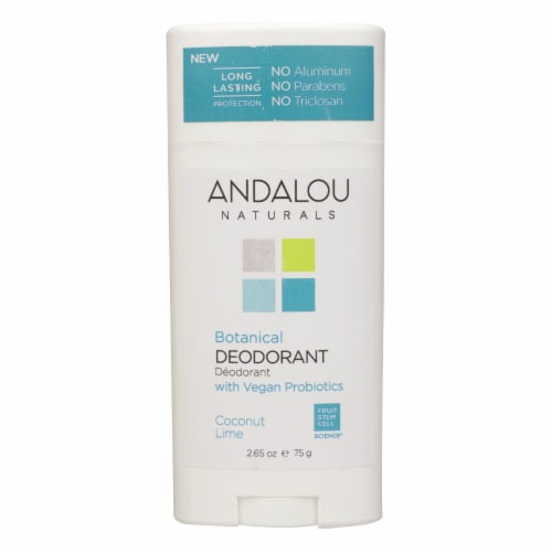 Andalou Naturals - Deodorant Vgn Pro Coconut Lime - 1 Each - 2.65 OZ Perspective: front