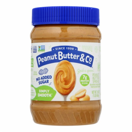 Peanut Butter & Co - Peanut Butter No Sugar Smooth - Case of 6 - 16 OZ Perspective: front