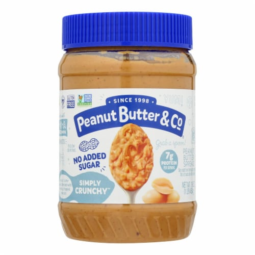 Peanut Butter & Co - Peanut Butter No Sugar Crnchy - Case of 6 - 16 OZ Perspective: front