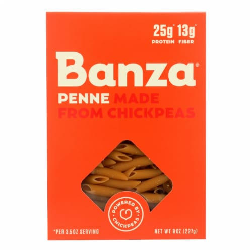 Banza Penne Chickpea Pasta Perspective: front