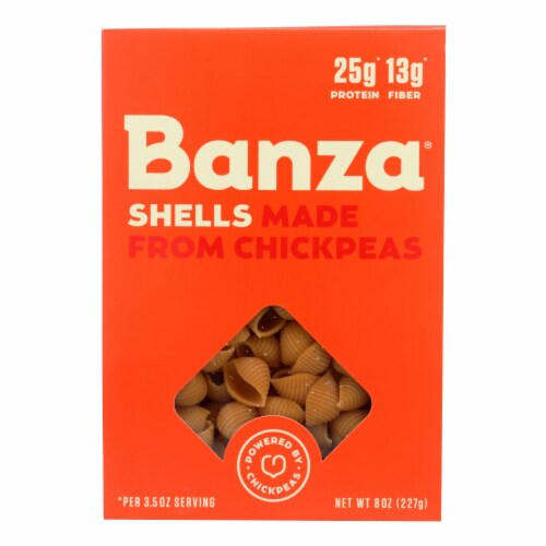 Banza Shells Chickpea Pasta Perspective: front