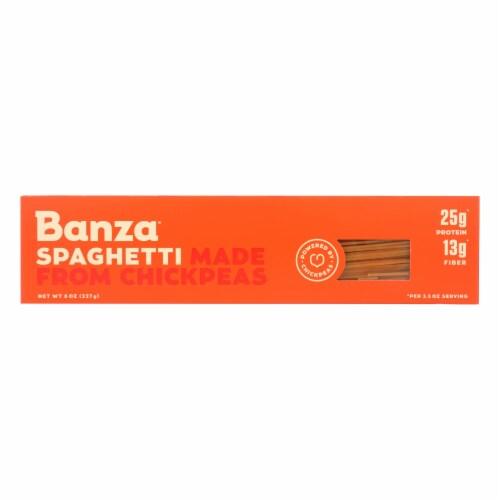 Banza Chickpea Spaghetti Pasta Perspective: front