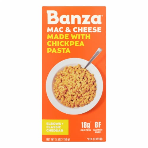Banza - Chickpea Pasta Mac and Cheese - Classic Cheddar - Case of 6 - 5.5 oz. Perspective: front