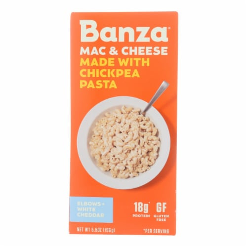 Banza - Chickpea Pasta Mac and Cheese - White Cheddar - Case of 6 - 5.5 oz. Perspective: front