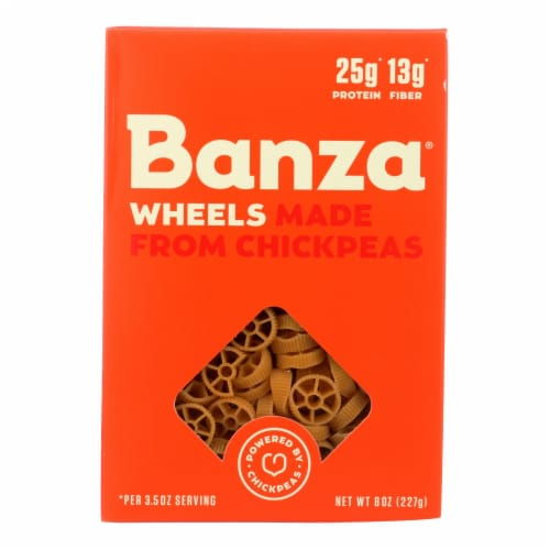 Banza Wheels Chickpea Pasta  - Case of 6 - 8 OZ Perspective: front