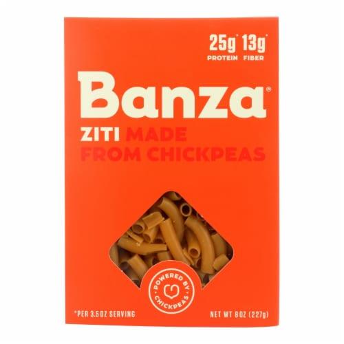 Banza Ziti Chickpea Pasta  - Case of 6 - 8 OZ Perspective: front