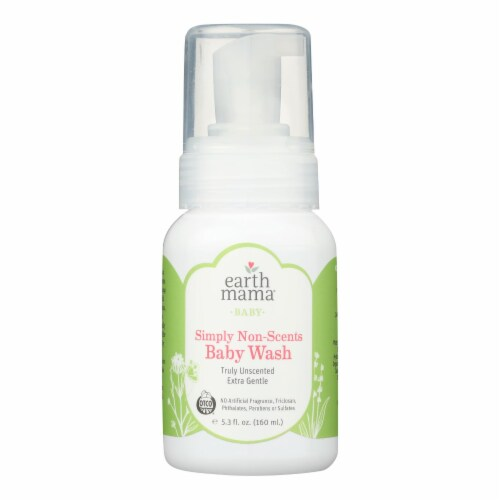 Earth Mama - Baby Wash - Non-Scented - 5.3 fl oz. Perspective: front