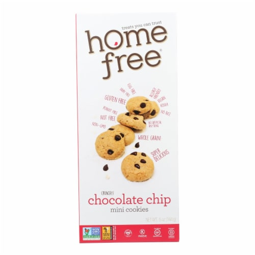 Homefree - Gluten Free Mini Cookies - Chocolate Chip - Case of 6 - 5 oz. Perspective: front