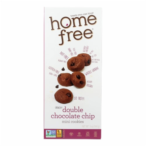 Homefree - Gluten Free Mini Cookies - Double Chocolate Chip - Case of 6 - 5 oz. Perspective: front