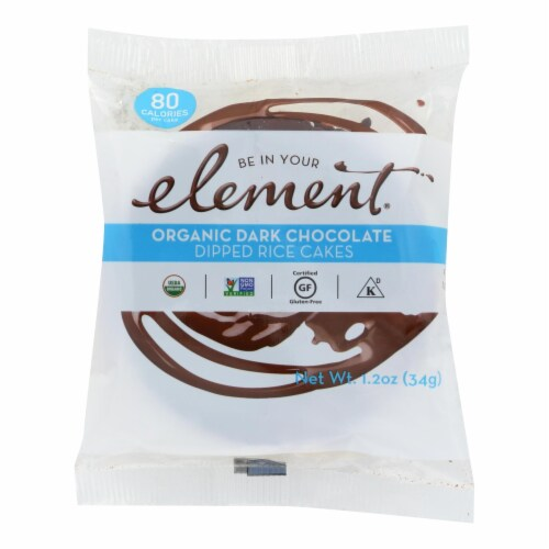 Element Rice Cake - Organic - Dark Chocolate - Case of 8 - 1.2 oz Perspective: front