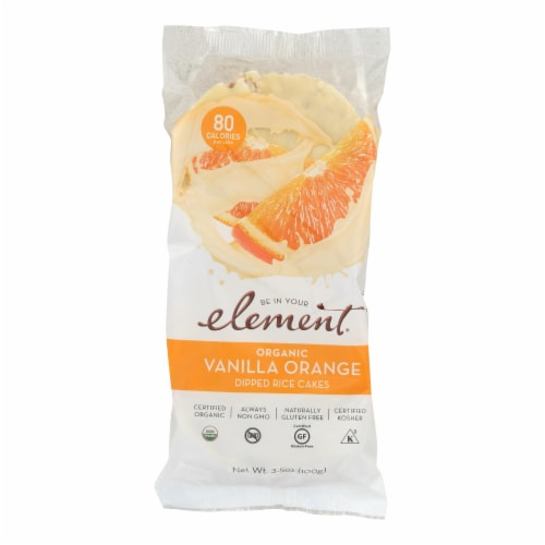 Element Organic Dipped Rice Cakes - Vanilla Orange - Case of 6 - 3.5 oz Perspective: front