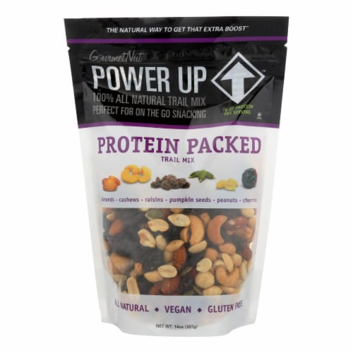 Gourmet Nut - Trail Mix Protein Packed - Case of 6 - 14 OZ Perspective: front