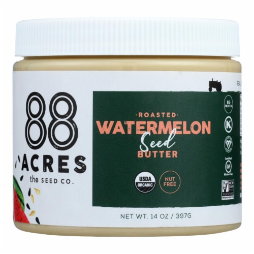 88 Acres - Seed Butter - Organic Watermelon - Case of 6 - 14 oz. Perspective: front