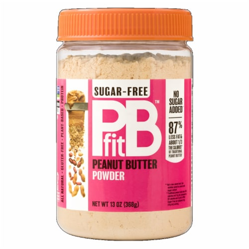 PB Fit Sugar Free Gluten Free All Natural Peanut Butter Powder, 8 oz [Pack of 6] Perspective: front