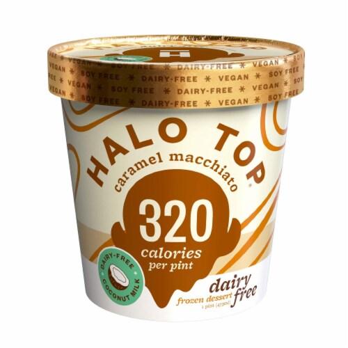 Halo Top Non Dairy Pint, Caramel Macchiato, 16 oz. (8 count) Perspective: front