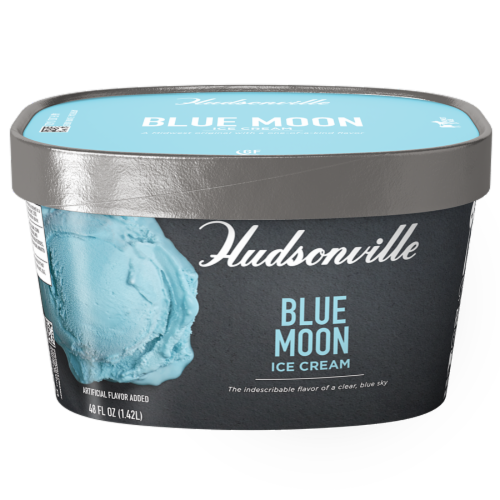Hudsonville, Blue Moon Ice Cream, 48 oz. Scround (4 Count) Perspective: front