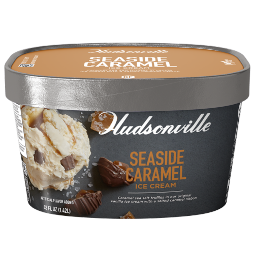 Hudsonville, Seaside Caramel, 48 oz. Scround (4 Count) Perspective: front
