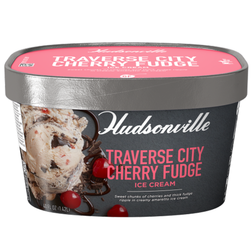 Hudsonville, Traverse City Chery Fudge, 48 oz. Scround (4 Count) Perspective: front