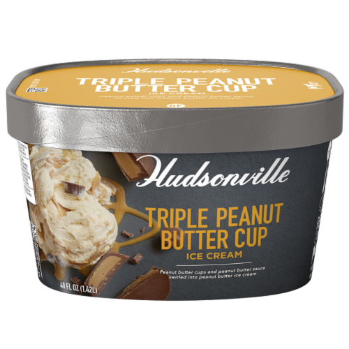 Hudsonville, Triple Peanut Butter Cup, 48 oz. Scround (4 Count) Perspective: front