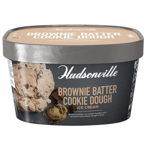 Hudsonville, Brownie Batter Cookie Dough, 48 oz. Scround (4 Count) Perspective: front