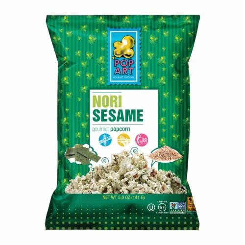 Pop Art Gourmet Popcorn - Nori Sesame - Case of 9 - 5 oz. Perspective: front