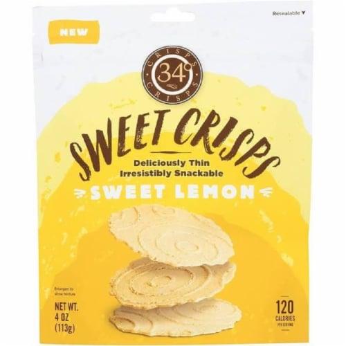 34 Degrees Sweet Crisps Sweet Lemon, 4oz (Pack of 12) Perspective: front