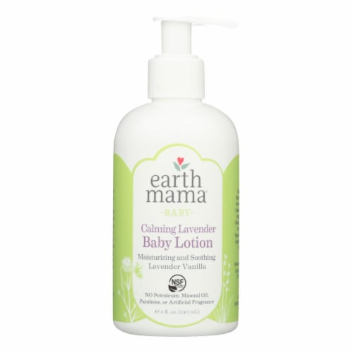 Earth Mama Angel Baby Lotion - Calming Lavender - 8 oz Perspective: front