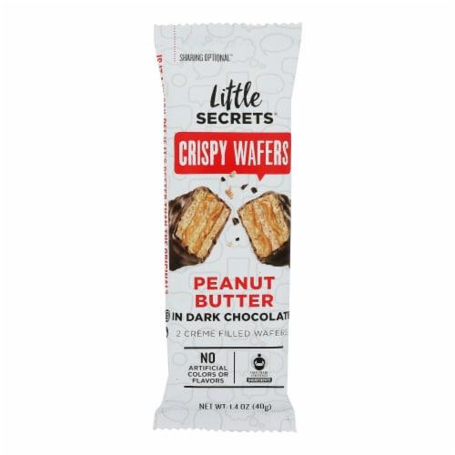 Little Secrets Crispy Wafer - Peanut Butter In Dark Chocolate - Case of 12 - 1.4 oz. Perspective: front