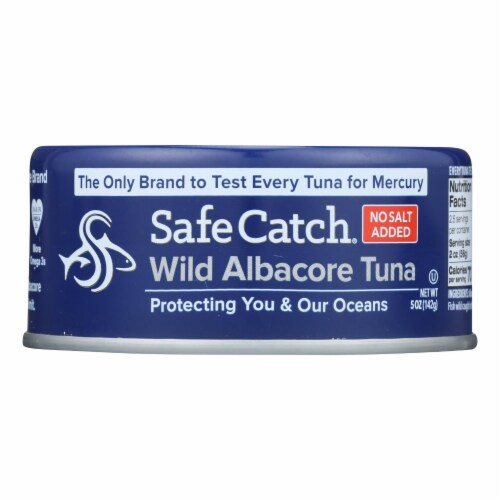 Safe Catch Wild Albacora Tuna - Case of 12 - 5 OZ Perspective: front