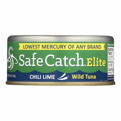 Safe Catch - Tuna Elite Wild Chili Lme - Case of 6 - 5 OZ Perspective: front