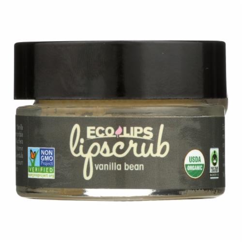 Ecolips Organic Lip Scrub - Vanilla Bean - Case of 6 - 0.5 oz. Perspective: front