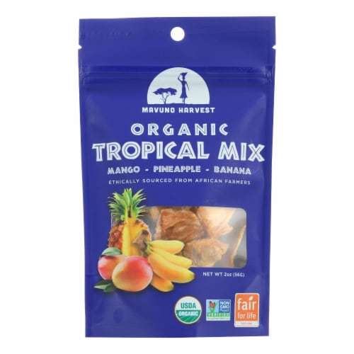 Mavuno Harvest - Organic Dried Fruit - Tropical Mix - Case of 6 - 2 oz. Perspective: front